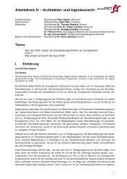 Arbeitskreis IV – Architekten- und Ingenieurrecht - - Deutscher ...