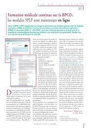 Formation médicale continue sur la BPCO : les modules SPLF sont ...