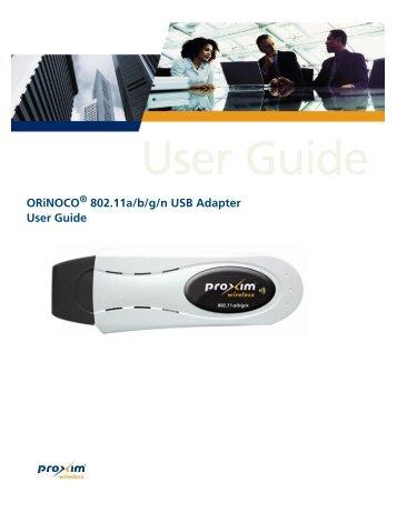 ORiNOCO 802.11a/b/g/n USB Adapter User Guide