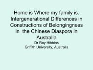 Home is Where my family is: Belongingness in the Chineseness ...
