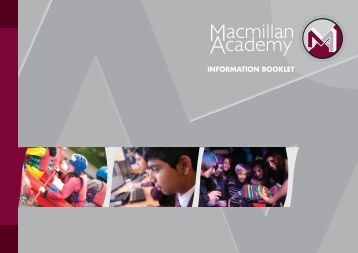 Prospectus - Macmillan Academy