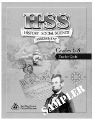 History and Social Sciences Assessment, Grades 6-8 - San Diego ...
