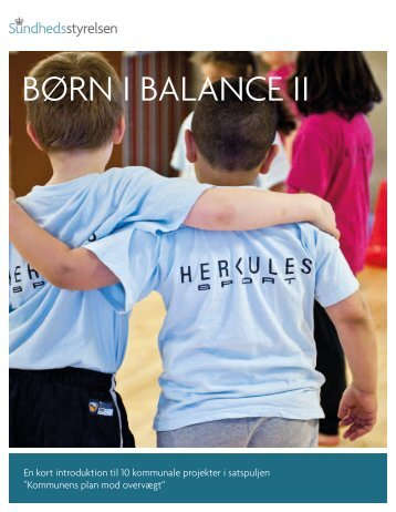 Børn i BalancE ii - Sundhedsstyrelsen
