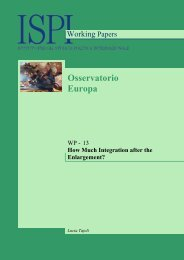 \title{HOW MUCH INTEGRATION AFTER THE ENLARGEMENT - Ispi