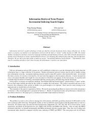 Information Retrieval Term Project: Incremental Indexing Search ...