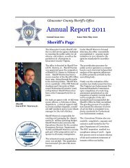 GCSO Annual Report May 2012 Final Draft - Gloucester County ...