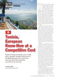 Tunisia, European Know-How at a Competitive Cost - Invest in ...