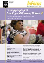 Putting people first: Equality and Diversity Matters 2 - Think Local Act ...