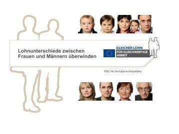 Lohnunterschiede zwischen Frauen und ... - Europa in Bremen