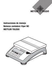 Instrucciones de manejo - METTLER TOLEDO