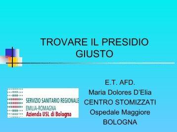 Inf. E.T. A.F.D. Dolores D'Elia - Associazione Emilia-Romagna ...