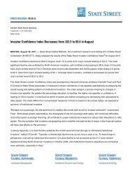 Investor Confidence Index Decreases from 102.5 to ... - State Street