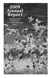 2009 Annual Report - Forest Service Employees for Environmental ...