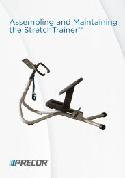 240i StretchTrainer™ Assembly and Maintainance Guide - Precor