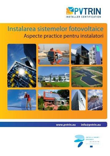 Instalarea sistemelor fotovoltaice - pvtrin