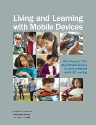 Living and Learning with Mobile Devices - Learning First Alliance