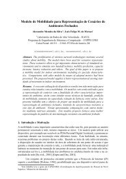 Modelo de Mobilidade para Representação de ... - GARF - UFRJ