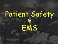 Patient Safety in EMS - UCLA Center for Prehospital Care
