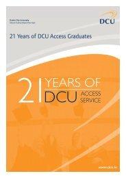 21 Years of DCU Access Graduates