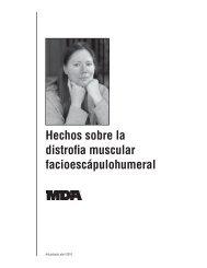 Hechos sobre la distrofia muscular facioespaulohumeral - MDA