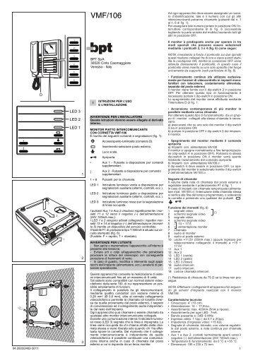 E 305g c 200 e 220 bpt for Bpt ta 350 istruzioni