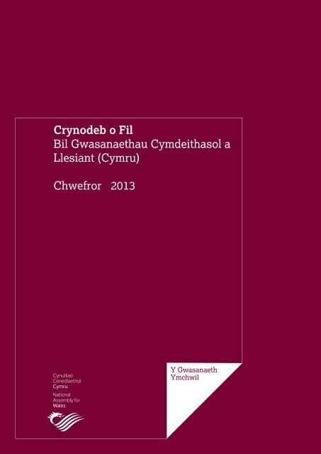 Crynodeb o Fil Bil Gwasanaethau Cymdeithasol a Llesiant (Cymru ...