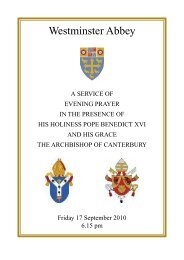 Order of Service - Westminster Abbey