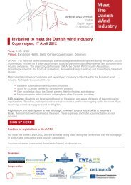 Invitation to meet the Danish wind industry Copenhagen, 17 April 2012