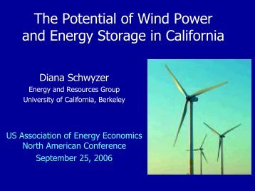 Energy Storage and Wind Power - United States Association of ...