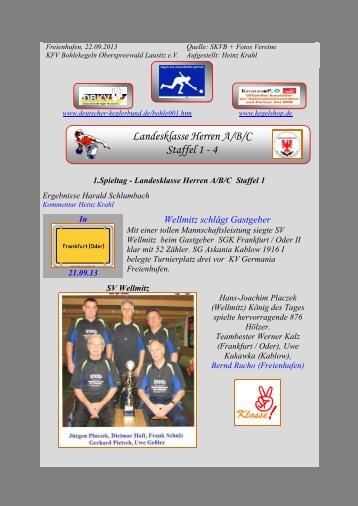 Landesklasse Herren A/B/C Staffel 1+3 2012 / 2013 - kegeln-osl.de