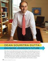 DEAN SOUMITRA DUTTA - Johnson Graduate School of Management