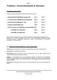 Praktikum: Arzneimittelanalytik (8. Semester) - 5. und 8. Semester ...