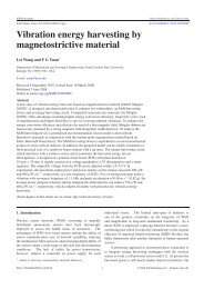 Vibration energy harvesting by magnetostrictive material