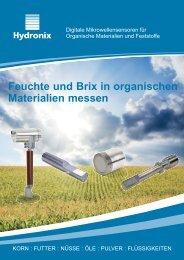 Feuchte und Brix in organischen Materialien messen - Hydronix
