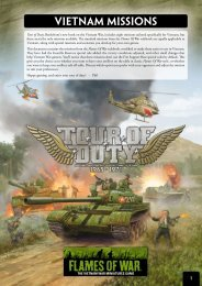 Vietnam Missions - Flames of War