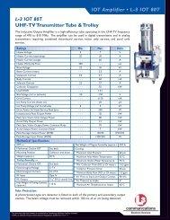 IOT Amplifier • L-3 IOT 80T - L-3 Communications