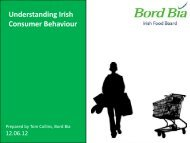 Understanding Irish Consumer Behaviour - Bord Bia