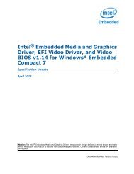 Intel® Embedded Media and Graphics Driver, EFI Video Driver, and ...