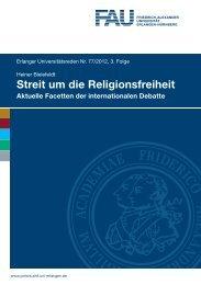 Streit um die Religionsfreiheit - Friedrich-Alexander-Universität ...
