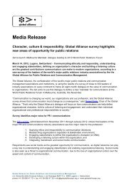 Media Release - Global Alliance for Public Relations and ...