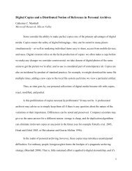 Digital Copies and a Distributed Notion of Reference in Personal ...
