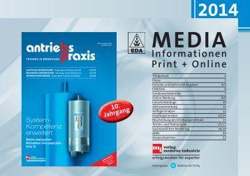 Die brandneuen Mediadaten 2014 der antriebspraxis...