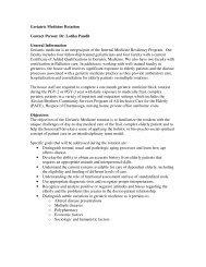 Geriatric Medicine Rotation Contact Person: Dr. Lotika Pandit ...