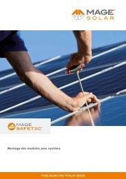 Montage des modules avec système - Mage Solar