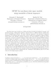 MCMC for non-linear state space models using ensembles of latent ...
