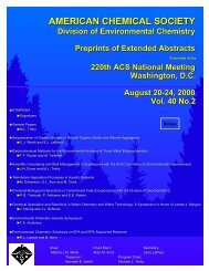 american chemical society - ACS: Division of Environmental Chemistry
