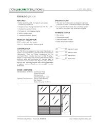Aluminum Frame Door Data Sheet - TSS Bulletproof