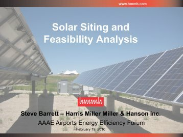 Solar Siting and Feasibility Analysis - HMMH