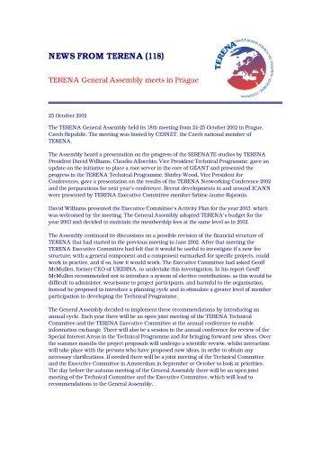 TERENA General Assembly meets in Prague