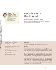 Political Order and One-Party Rule - United States Studies Centre